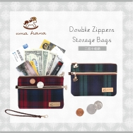 C16 Double Zippers Storage Bags